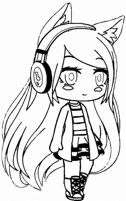 Gacha Coloring Pages Animationsa2z Headphones