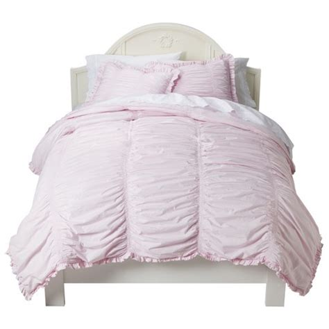 simply shabby chic comforter sets simply shabby chic 174 ruched comforter set target