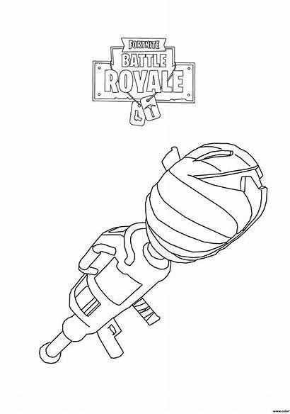 Fortnite Coloring Royale Battle Rocket Launcher Pages