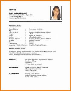 5 simple resume for any job application legacy builder With example of resume for job application