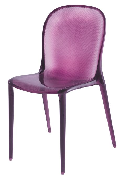 chaises polycarbonate chaise empilable thalya polycarbonate violet kartell