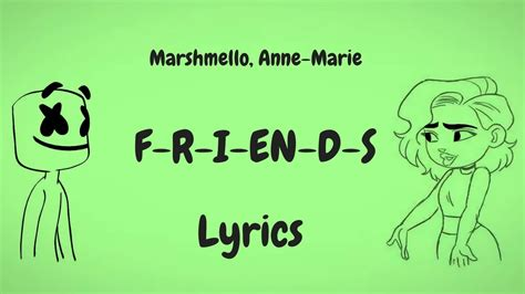 Download Lagu Marshmello Anne Marie Friends Lyrics Lyric