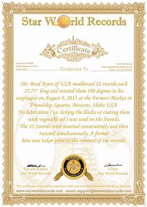 guinness world record certificate template download image With world record certificate template