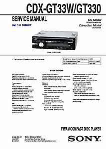 Sony Cdx-gt330  Cdx-gt33w Service Manual