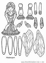 Fairy Paper Coloring Pages Puppets Dolls Crafts Puppet Cut Doll Printable Pdf Craft Fairies Colouring Pheemcfaddell Fastener Meadowlark Sheets Template sketch template