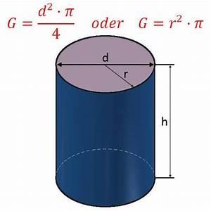 Radius Eines Zylinders Berechnen : zylinder berechnen von fl che und volumen am zylinder ~ Themetempest.com Abrechnung