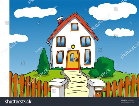 Cartoon House Stock Vector Illustration 74936824