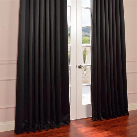 jet black grommet wide blackout curtains drapes