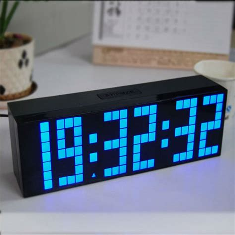battery operated digital wall clock free shipping big led digital battery operated 7606