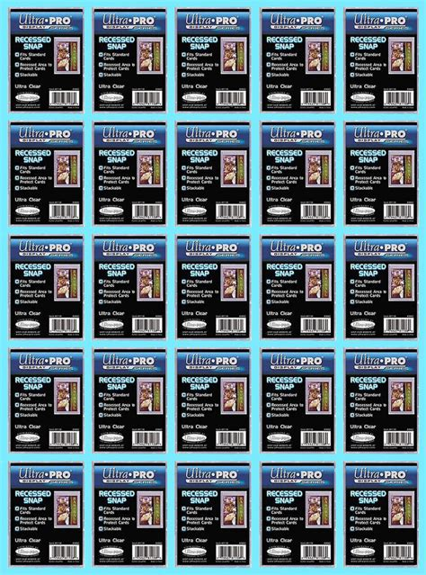 ultra pro recessed mini snap standard size trading card
