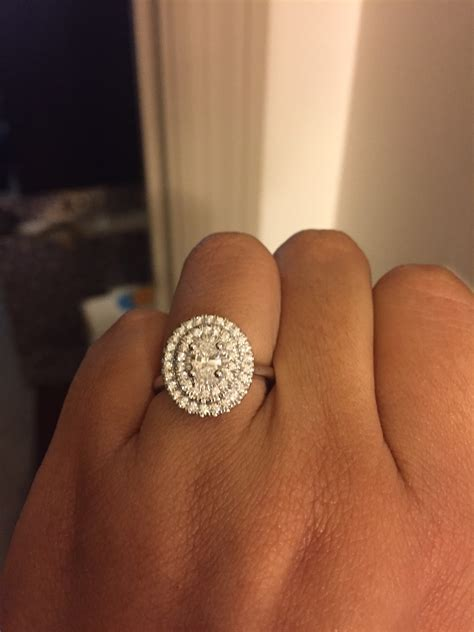 is my engagement ring gaudy big for my
