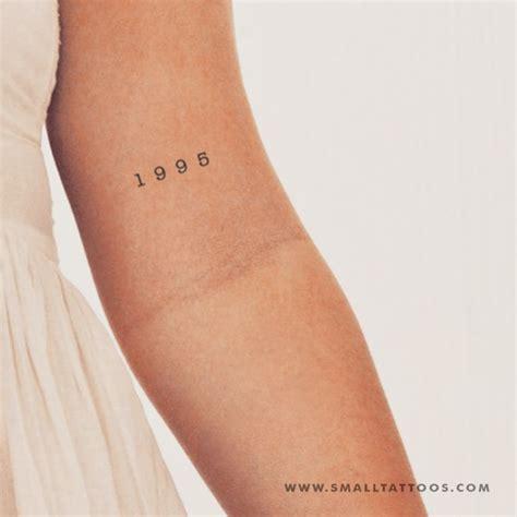 birth year temporary tattoo set   small tattoos