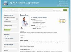 PHP Medical Appointment Script Screenshots ApPHP