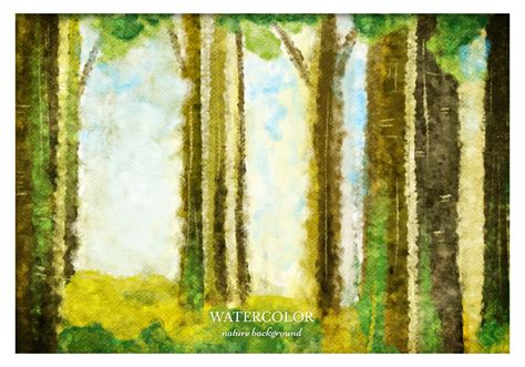 vector watercolor forest background