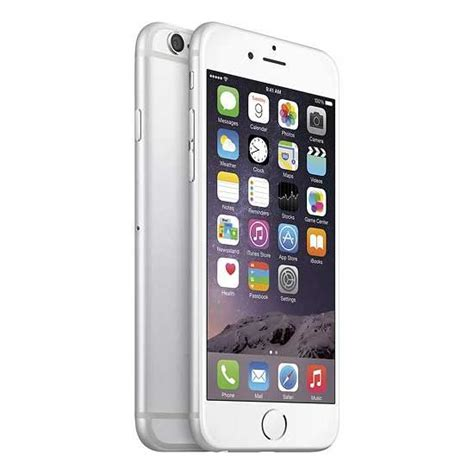 Apple Iphone 6 At&t Refurbished Phone, White Silver