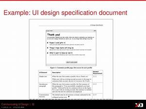 effectively communicating user interface and interaction With interface design document template