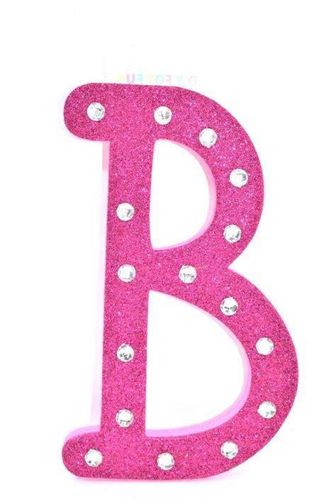 pink glitter rhinestone foam letter  foam letters lettering pink glitter