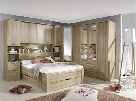 Overbed Cupboard by Rauch Rivera Sonoma Oak Bed Plinth Drawers 140cm