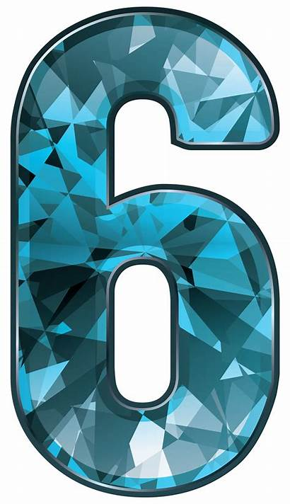 Number Six Clipart Crystal Numbers Transparent Yopriceville