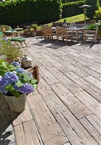Bahnschwellen Beton Holzoptik : ber ideen zu terrassen auf pinterest verandas hauspl ne und h user ~ Sanjose-hotels-ca.com Haus und Dekorationen