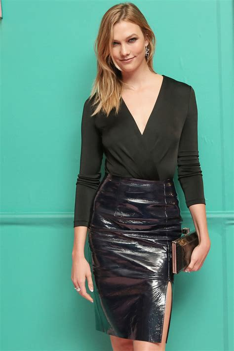 Karlie Kloss Attends Cfda Fashion Awards Leather Celebrities