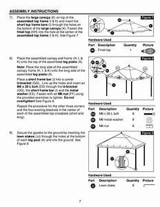 10 Ft  X 12 Ft  Steel Gazebo Assembly  U0026 Instructions Manuals
