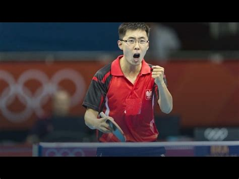 wang zengyi penhold short pips player chinese polish table tennis player youtube