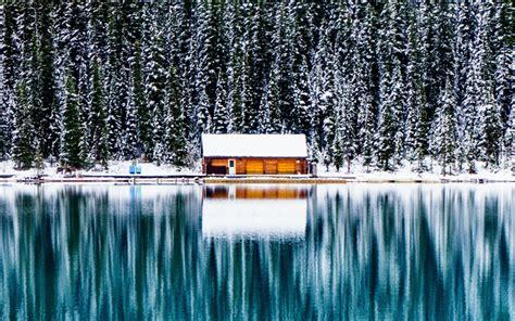 wallpapers lake louise canada  banff winter