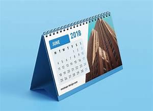 Free, Premium, Desk, Table, Calendar, Mockup, Psd