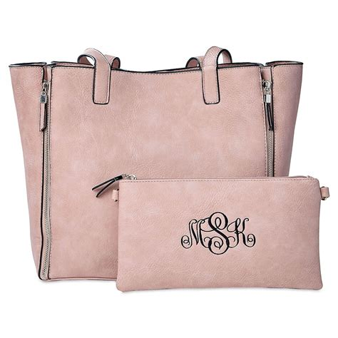 pink carry  bag  matching personalized crossbody purse lillian vernon