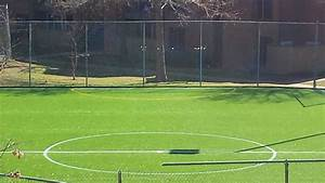 Artificial Turf Tennis Court Conversion With Airdrain