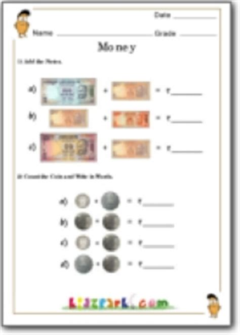 money counting worksheet resource of worksheets
