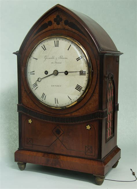 english gothic bracket clock circa  wwwantiques