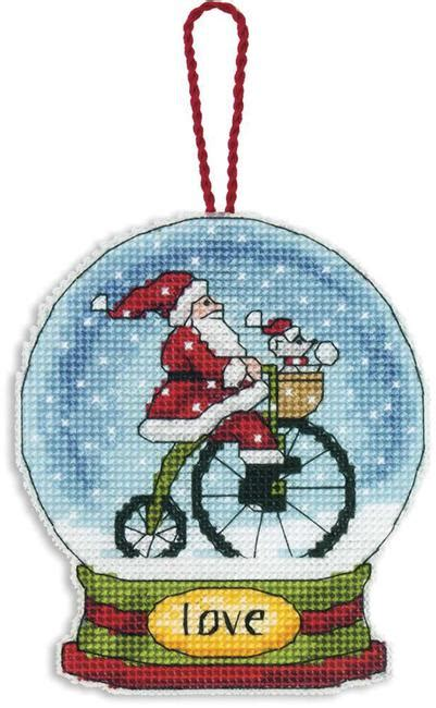 dimensions love snowglobe christmas ornament cross stitch kit 70 08903 123stitch com