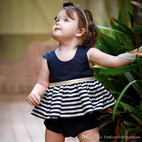 Best Ins New Style Cute Baby Girl Mini Dresses Backless