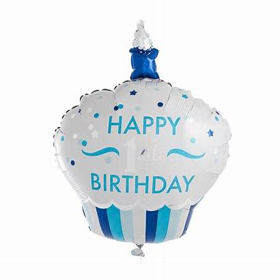 Birthday Cupcake 1st Happy Balloon Giant Flat