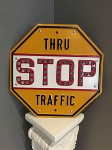 1930s, 40s, Stop, Sign, Thru, Traffic