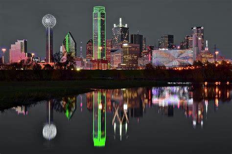 Selective Color Night Dallas Photograph Frozen