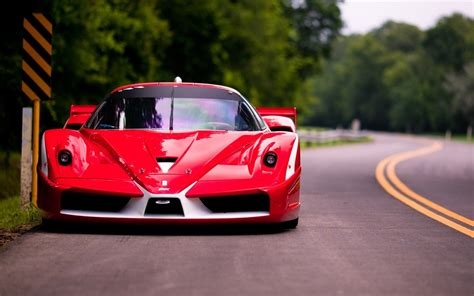 red ferrari fxx road photo wallpaper