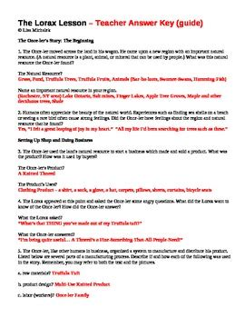 the lorax worksheet answers the lorax worksheet earth day activity humans and