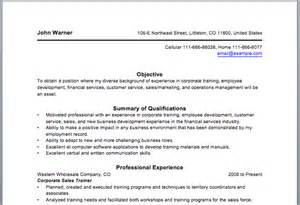 corporate trainer resume sample