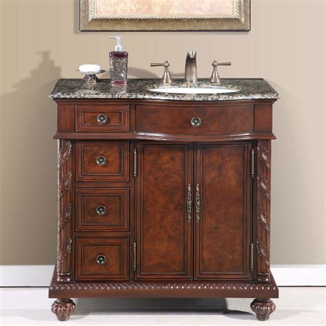 Bathroom Vanity With Center Sink by 36 Inch Single Bathroom Vanity Center Right Sink