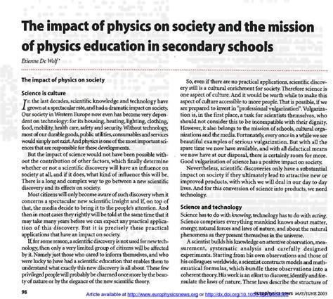 impact  physics  society   mission