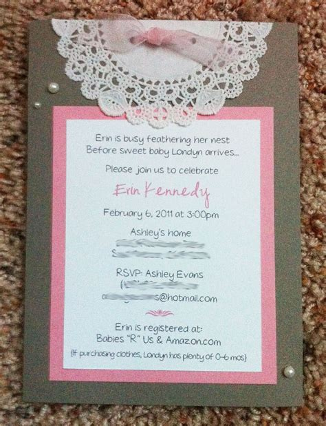 Cricut Baby Shower Invitations Baby Shower Invitation