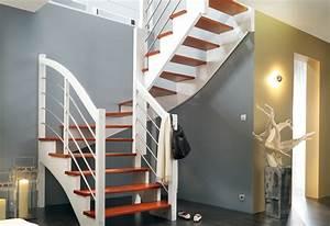 Escalier 1 4 Tournant Droit : les escaliers les escaliers sur mesure comptoir des bois ~ Dallasstarsshop.com Idées de Décoration