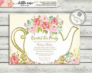 Garden Tea Party Bridal Shower Invitation - High Tea ...