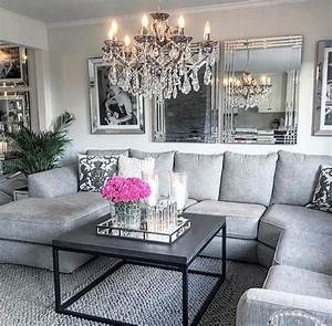 Gorgeous, Glam, Grey, Living, Room