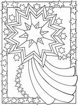 Moon Coloring Sun Pages Flower sketch template
