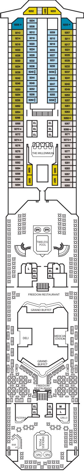 Carnival Splendor Lido Deck Plan by Carnival Freedom Cruise Review For Cabin 9202