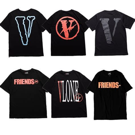 Brand Clothing Vlone 11 Men T Shirts High Quality Vlone